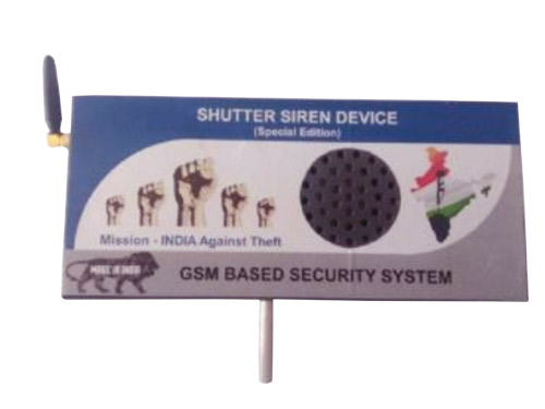 Shutter Siren GSM Alarm Security System India